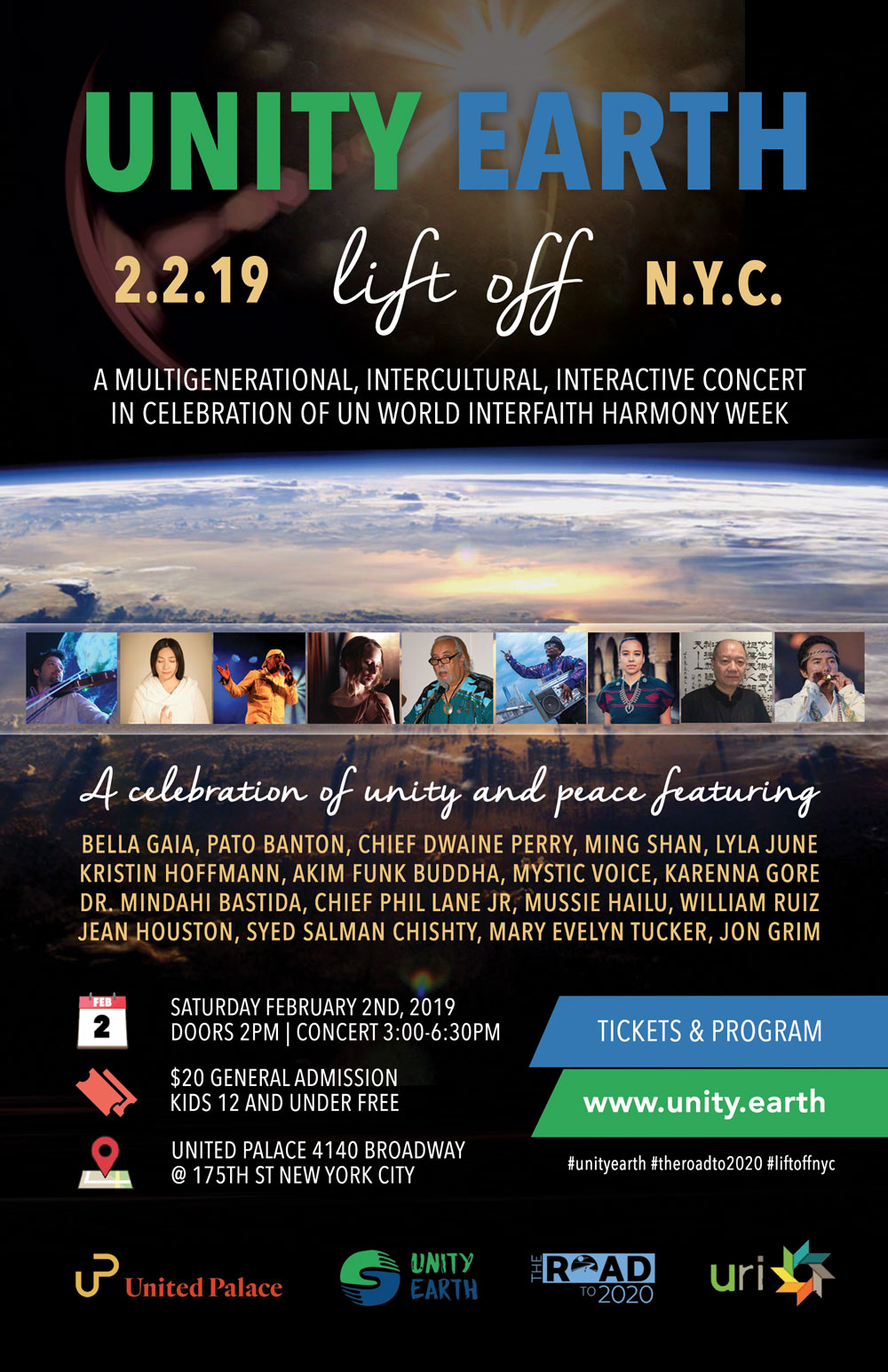 UNITY EARTH LIFT OFF: Concert + Broadcast